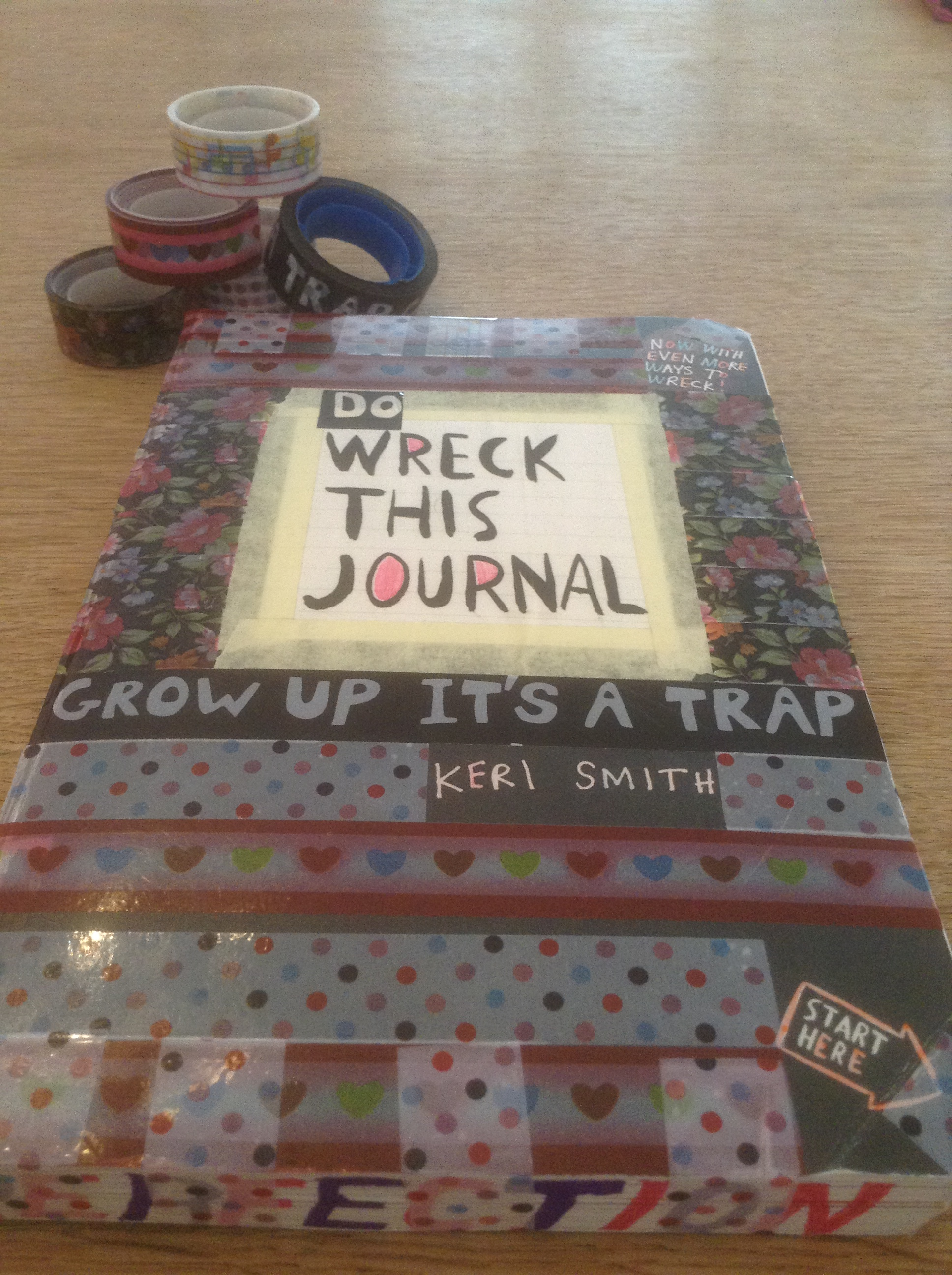 Tanya's 101 - Wreck this Journal / Tape this journal closed and mail it to yourself. Front.