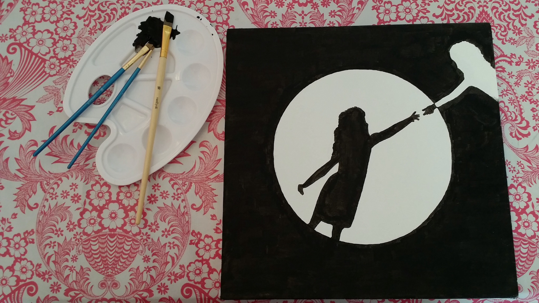 Tanya's 101 - Paint on a Canvas | How I found the courage to paint on a canvas (er... six canvasses) for the first time