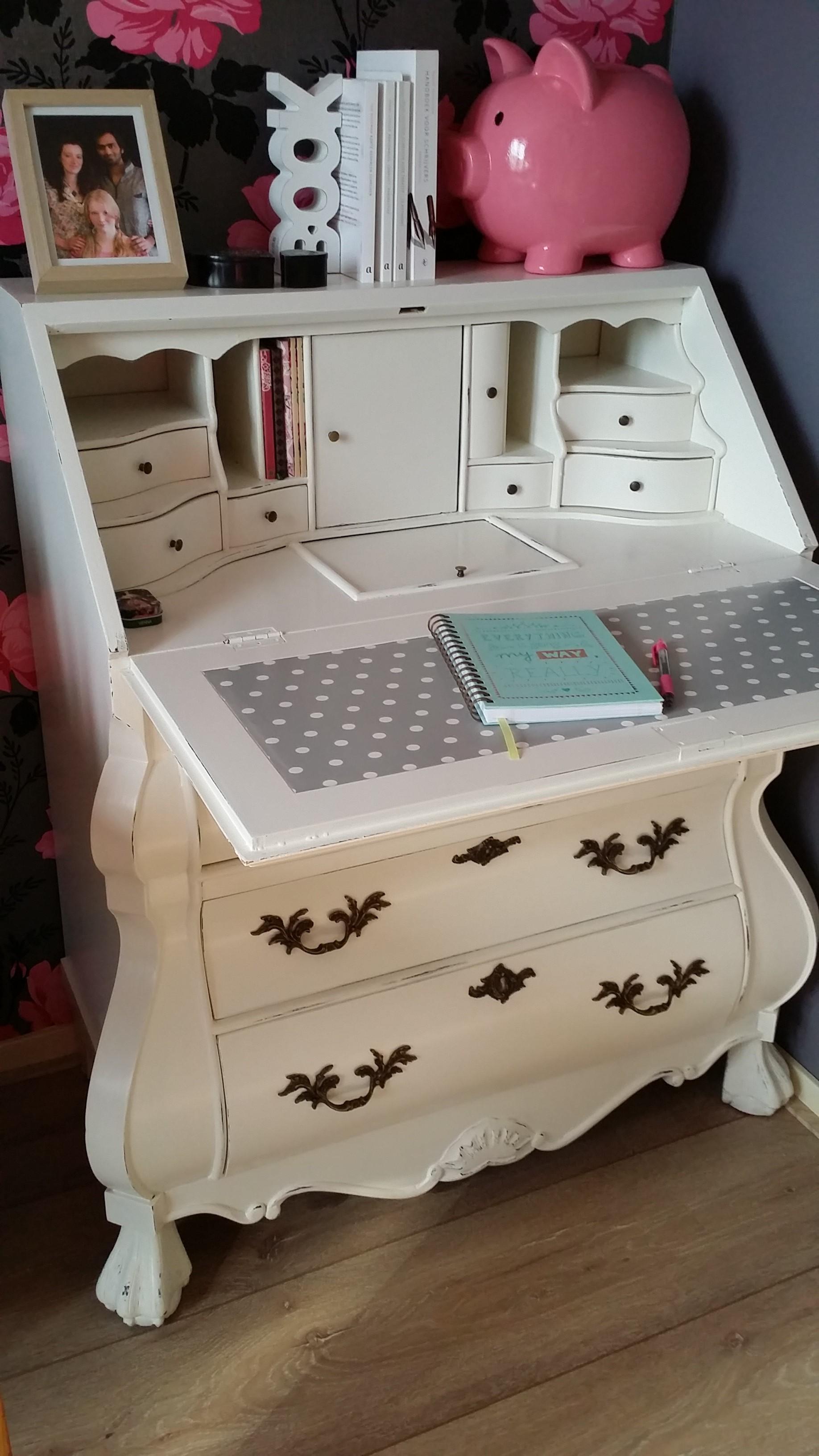 Tanya's 101 ~ Refurbishing - A Fairytale Desk | How to refurbish a secretary desk and make it your dream desk