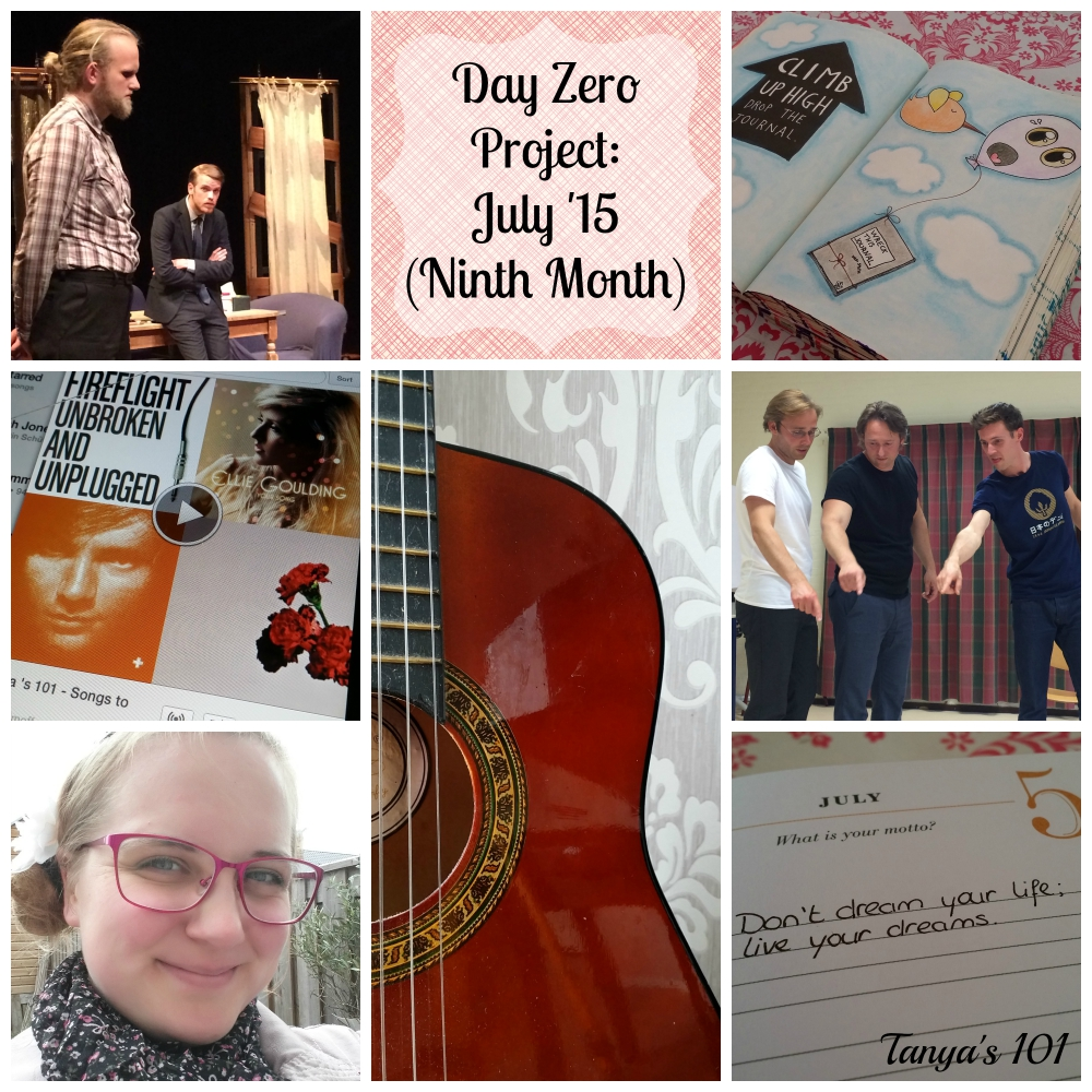 Tanya's 101 ~ Monthly Update July 2015 | My ninth month into the Day Zero Project