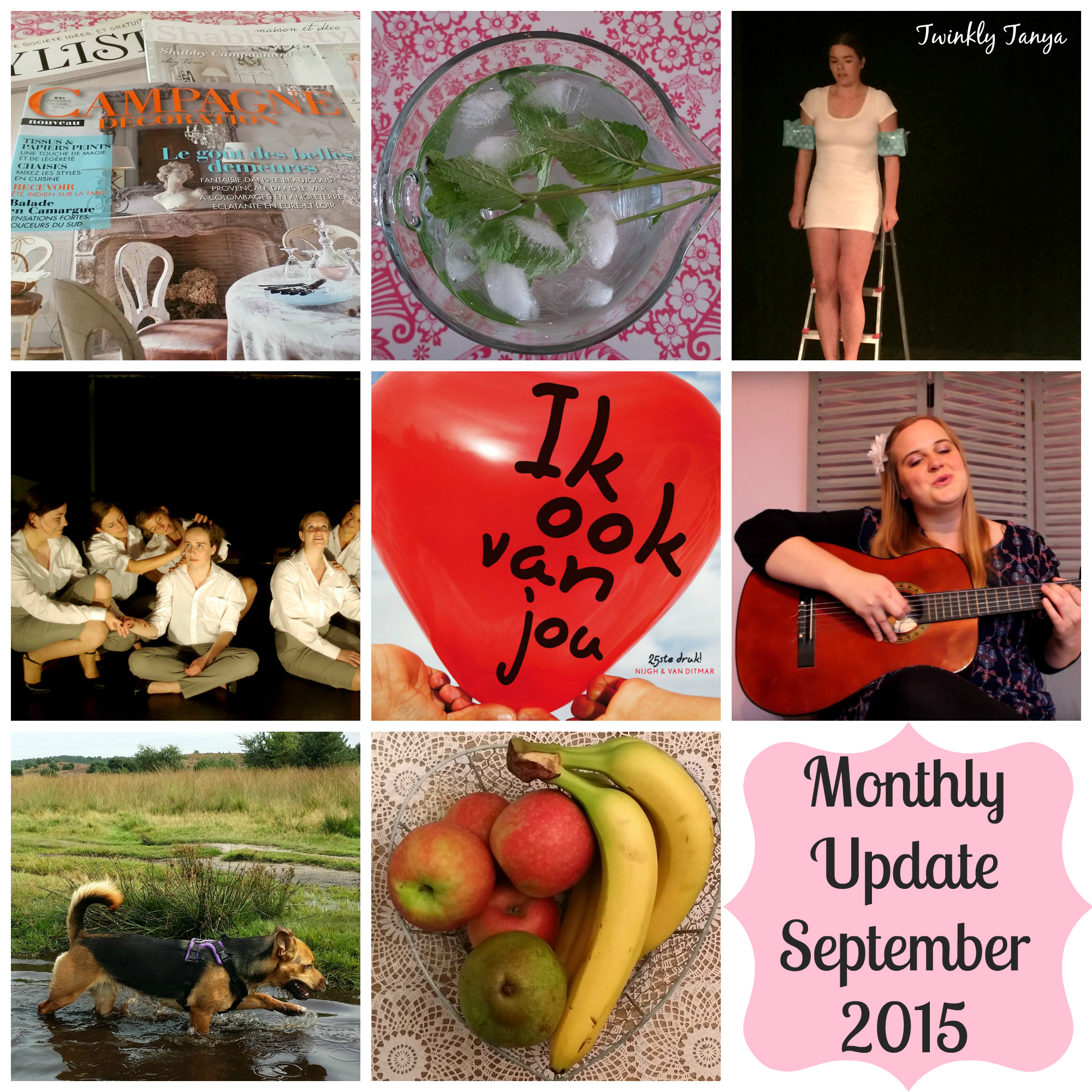 Twinkly Tanya's 101 ~ Monthly Update September 2015 | Day Zero Project | 101 in 1001 | Monthly Update | My 11th month into the project