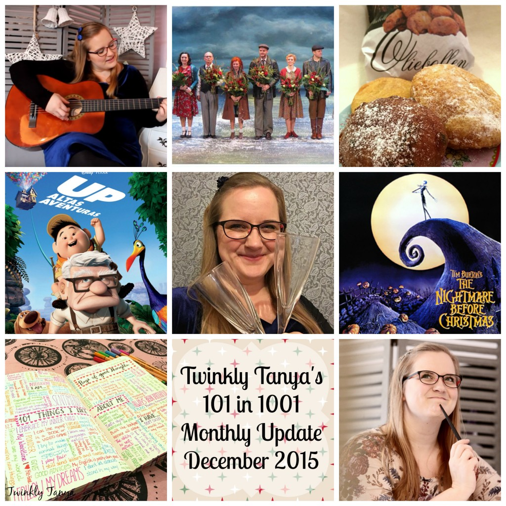 Twinkly Tanya ~ 101 in 1001 ~ Monthly Update December 2015