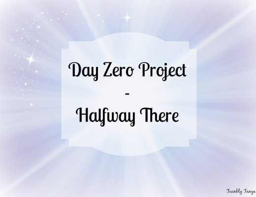 Twinkly Tanya ~ Day Zero Project Halfway | Fairytale desk | Refurbished secretary desk